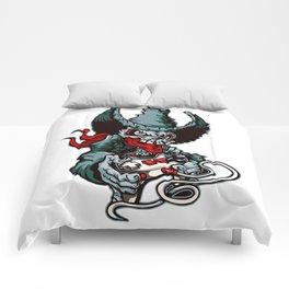 Gamer Skull -  Bermuda Grey Comforters