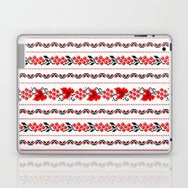 Ethno Ukrainian Pattern - Grape Guelder rose Oak - Symbol Laptop & iPad Skin