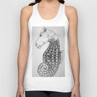 sea horse Tank Tops featuring Sea Horse by Stephanie Darling
