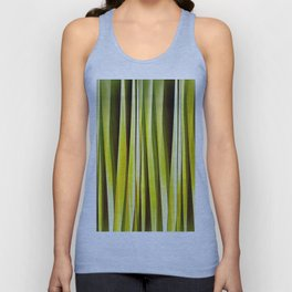 Yellow Ochre and Brown Stripy Lines Pattern Unisex Tank Top