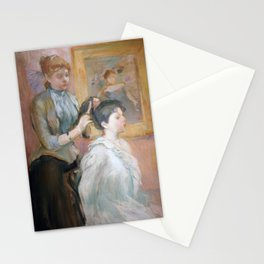 La Coiffure (Morisot 1894) Stationery Cards