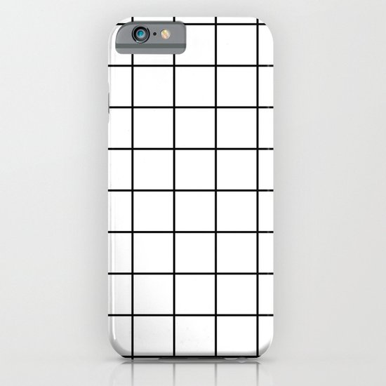 White Grid iPhone & iPod Case
