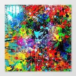 Splatter Pattern Canvas Print