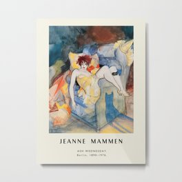 Poster-Jeanne Mammen-Ash wednesday. Metal Print