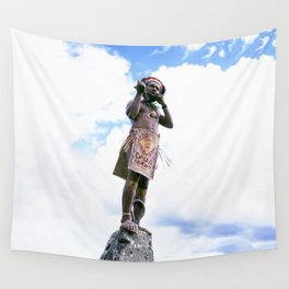 Papua New Guinea Man Wall Tapestry