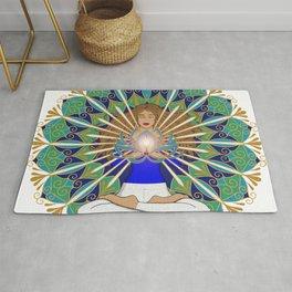 Divine Spark Mandala Rug