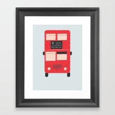 Red Double Decker Bus  Framed Art Print