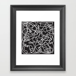 Jolly Clips (Black) Framed Art Print