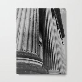 Columns of the British Museum Metal Print