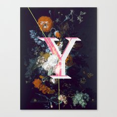 Letter Y Canvas Print