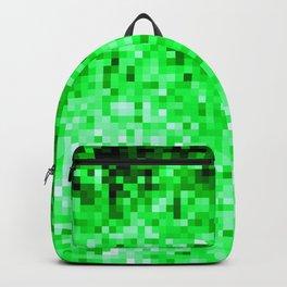Grass Green Pixels Backpack