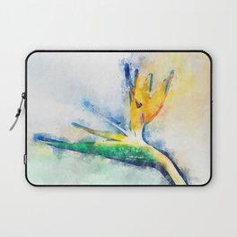 Bird Of Paradise Watercolor Art Laptop Sleeve