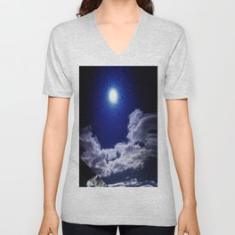 Signs in the Sky Collection I- in its original deep blue Unisex V-Neck