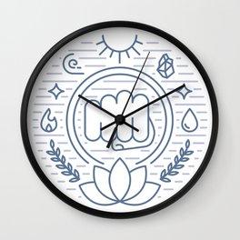 Monk Emblem Wall Clock