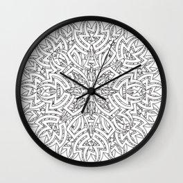 Aztec Mandala 2 Wall Clock