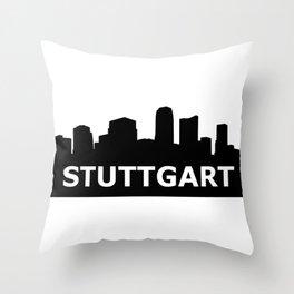 Stuttgart Skyline Throw Pillow
