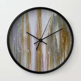 Gold and Silver Deluge Wall Clock