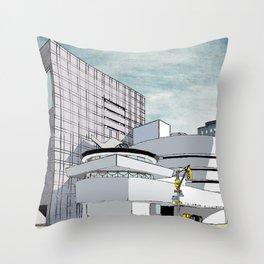 Salomon R. Guggenheim Museum, New York City Throw Pillow