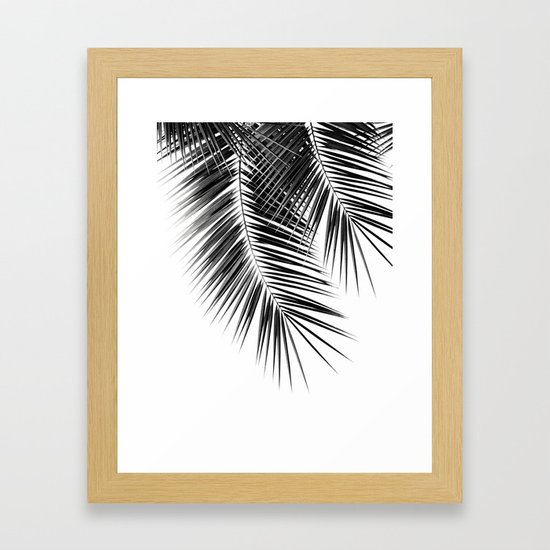 Black Palm Leaves Dream - Cali Summer Vibes #2 #tropical #decor #art #society6 by anitabellajantz