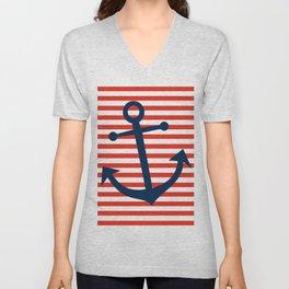 Nautical Anchor Unisex V-Neck