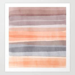 Earth Breeze_ Trio Sun Tan & Burnt Orange and Brown  Art Print