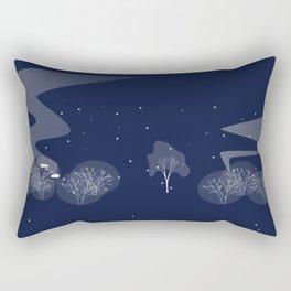 nuage fond bleu Rectangular Pillow