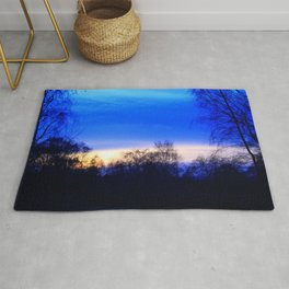 Cold Winter Sunset Rug
