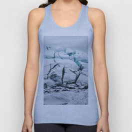 Glacial World of Iceland - Landscape Photography Unisex Tank Top