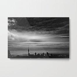 Auckland, Misty from Mt Eden Metal Print