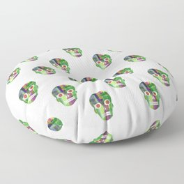 Grapevine Joy Skull pattern by Adam Cooley Floor Pillow