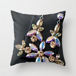 Diamond Flowers Throw Pillow