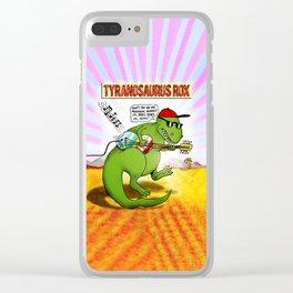 Jurassic Rock Clear iPhone Case
