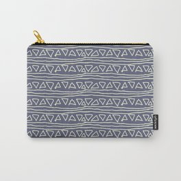 Blue Scribbles Pattern 03 Carry-All Pouch