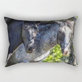 Mica and Malpais - Pryor Mustangs Rectangular Pillow