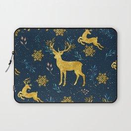 Golden Reindeer Laptop Sleeve