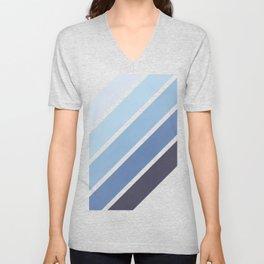 Blue Color Drift Unisex V-Neck
