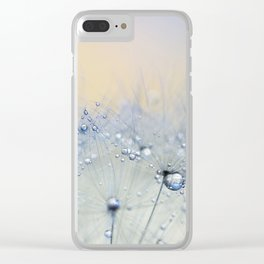 ice blue dandelion Clear iPhone Case
