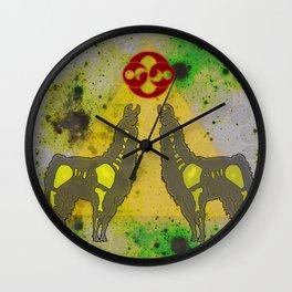 Cosmic Llama Wall Clock