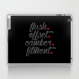flush offset camber fitment v4 HQvector Laptop & iPad Skin