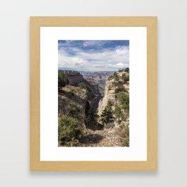 A Vertical View - Grand Canyon Framed Art Print