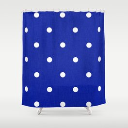 Dotty Blue Shower Curtain