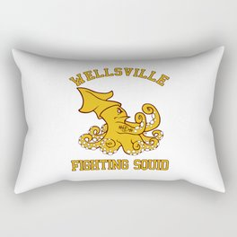 """Wellsville Fighting Squid (Notre Dame/""""Pete and Pete"""" parody) Rectangular Pillow"""