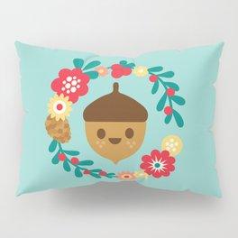 Acorn and Flowers Pillow Sham