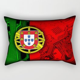 circuit board Portugal (Flag) Rectangular Pillow