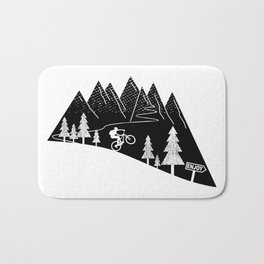 mountain bike MTB cycling mountain biker cycling bicycle cyclist gift Bath Mat
