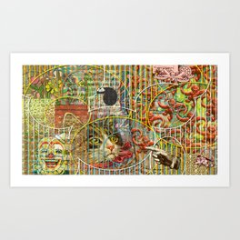 Prioritizing the Preservation of Favoured Struggles: Our Mesmerizing Bucket of Worms Art Print