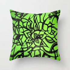 Green Love Throw Pillow