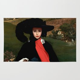 "Frederic Leighton ""Portrait of May Sartoris"" Rug"
