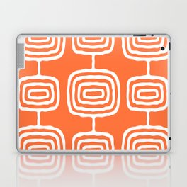 Mid Century Modern Atomic Rings Pattern 771 Orange Laptop & iPad Skin