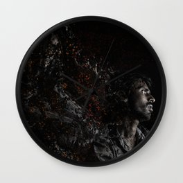 Man Portrait Coming Together Wall Clock